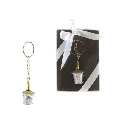 Case of [48] Champagne Bottle in Bucket of Ice Key Chain