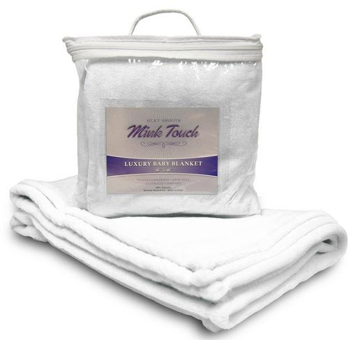 Case of [48] Mink Touch Baby Blanket- Pure White