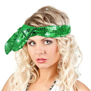 Calypso Studios Glitz Bendi Sequin Wire Headband, Green
