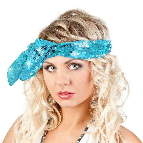 Calypso Studios Glitz Bendi Sequin Wire Headband, Light Blue