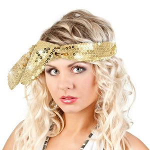 Calypso Studios Glitz Bendi Sequin Wire Headband, Gold