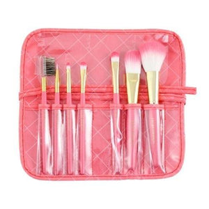 Jacki Design Vintage Allure 7 Pc Make Up Brush Set And Bag - Coral