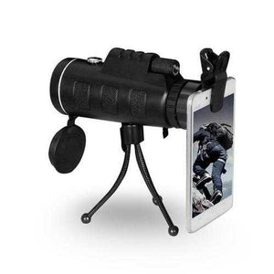 Zoomable 60X Monocle Binocular with Smart Phone attachment