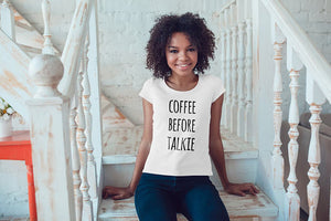 Coffee Lover Shirt Women T Shirt Women Coffee T-shirt Women Clothing Typography Shirt Quote Shirt Women Tshirt Female Clothing Woman T-Shirt