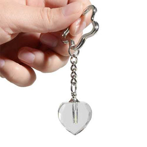 1.5x6mm Tritium Vials Tube Crystalline Flask Heart-shaped Keychain