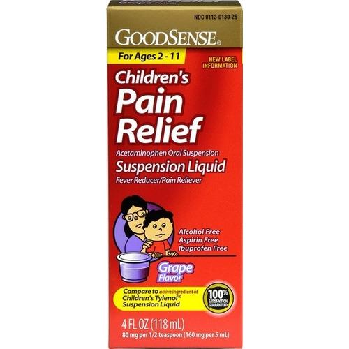 Case of [48] GoodSense Child Pain Relief Liquid 160Mg- Grape 4 oz