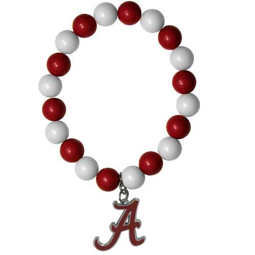 ALABAMA FAN BEAD BRACELET