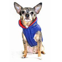 Featherlite Reversible-Reflective Puffer Dog Vest by Hip Doggie - Blue/Orange