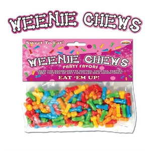 Weenie Chews - Multi Flavor Assorted Penis Shaped Candy - 125 Piece Bag