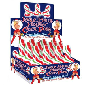 Jingle Bells Holiday Cock Pop - 12 Piece Display