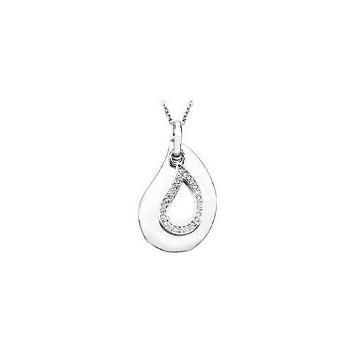 A Tear to Treasure .925 Sterling Silver Pendant with 18 Inch chain