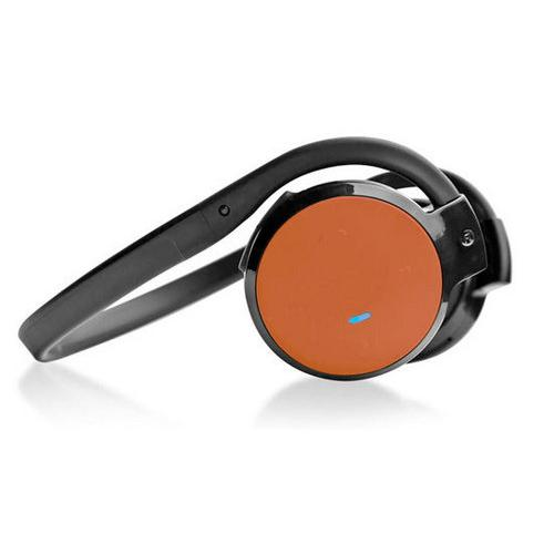 Stereo Bluetooth Streaming Wireless Headphones with Built-in Microphone - Works with All Bluetooth-Enabled Phones & Devices (Orange)