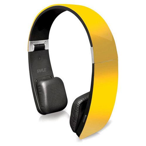 Sound 6 Bluetooth 2-in-1 Stereo Headphones with Built-in Mic for Call Answering and Easy-Touch Digital Controls (Yellow Color)