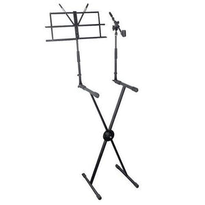Digital Electronic Keyboard Piano DJ Table Stand Mount Holder with Music Note & Microphone Holder, Height Adjustable