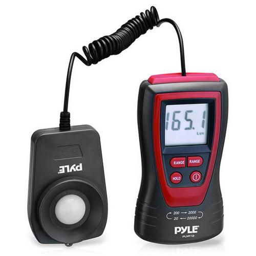 Pyle Handheld Lux Light Meter Photometer W/ 20,000 Lux range, 2x Per Second Sampling, and Digital Display