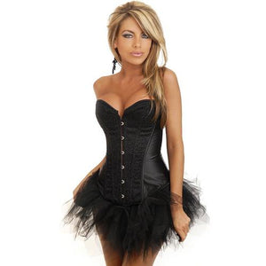 Black Sequin Burlesque Corset