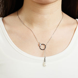 Abstract Flow Silver Plated Necklace