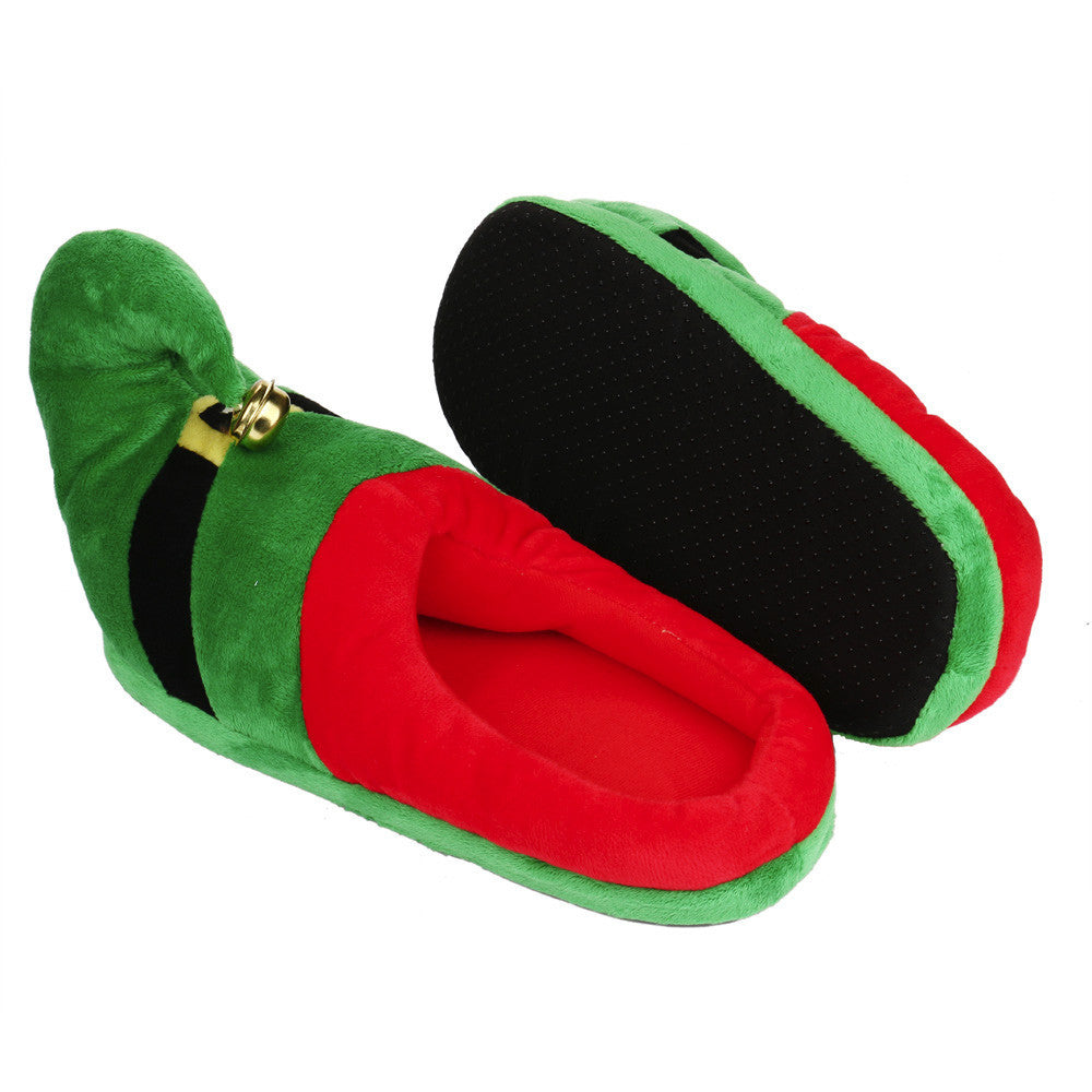 Unisex Plush Cotton Home Slippers Winter Warm Indoor Christmas Slippers Shoes