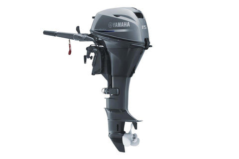 Yamaha 15hp 4-Stroke Outboard Engine with Long Shaft, Tiller Handle & Electric Start