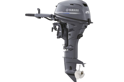 Yamaha 20hp 4-Stroke Outboard Engine with Long Shaft, Electric Start, Remote Control & Power Tilt