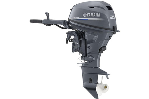 Yamaha 25hp 4-Stroke Outboard Engine with Long Shaft, Remote Control, Electric Start, Power Trim & Tilt