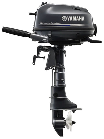 Yamaha 4hp 4-Stroke Outboard Engine with Long Shaft & Tiller Handle
