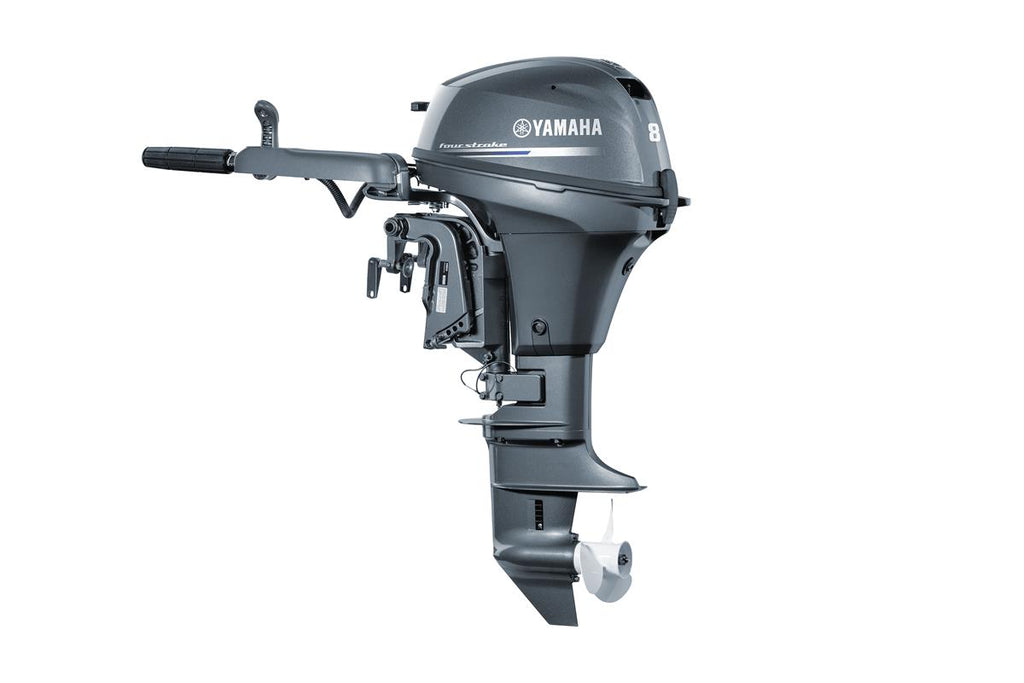 Yamaha 8hp 4-Stroke Outboard Engine with Long Shaft & Tiller Handle