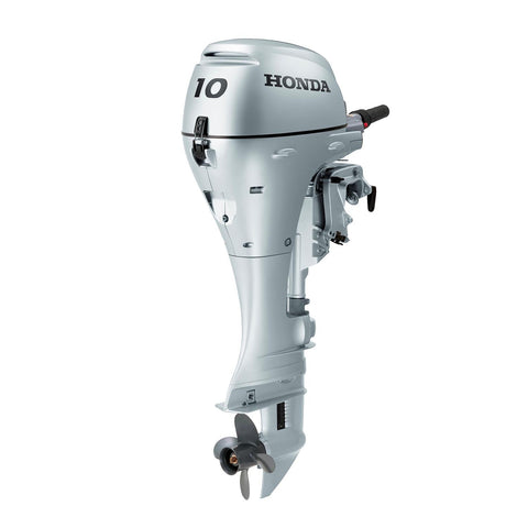 Honda 10hp 4-Stroke Outboard Engine with Short Shaft, Electric Start & Tiller Handle