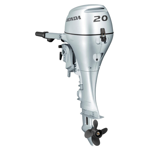 Honda 20hp 4-Stroke Outboard Engine with Short Shaft, Electric Start & Tiller Handle