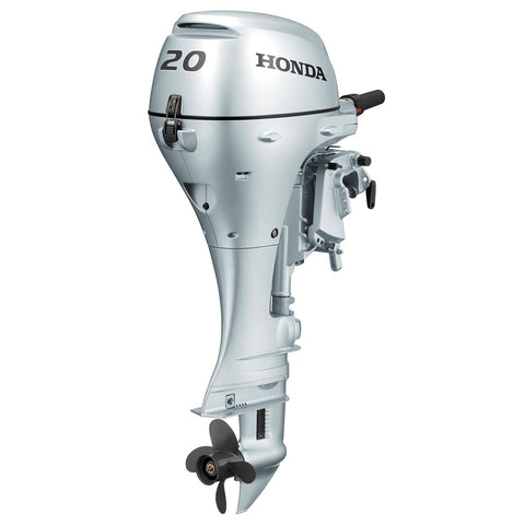 Honda 20hp 4-Stroke Outboard Engine with Short Shaft, Recoil Start & Tiller Handle