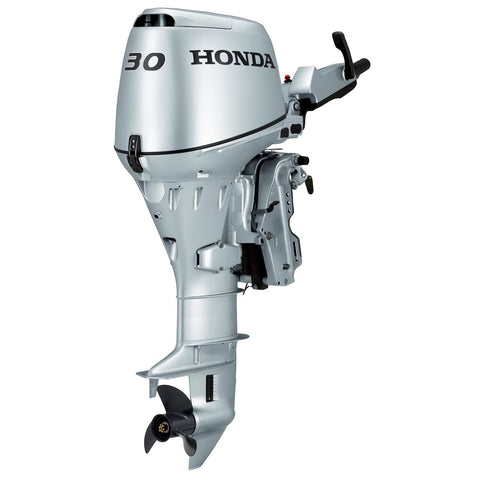 Honda 30hp 4-Stroke Outboard Engine with Short Shaft, Electric Start & Tiller Handle