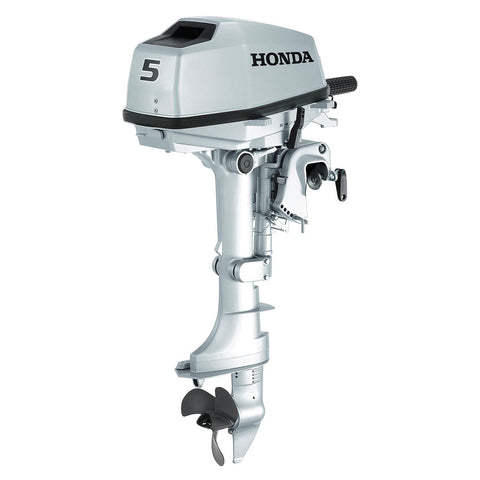 Honda 5hp 4-Stroke Outboard Engine with Short Shaft & 3 Amp Charging Coil
