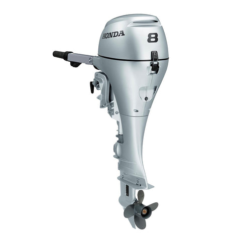 Honda 8hp 4-Stroke Outboard Engine with Short Shaft, Recoil Start & Tiller Handle