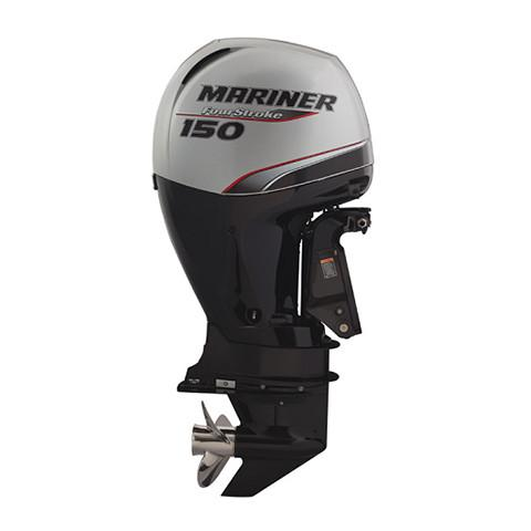 Mariner 150hp 4-Stroke Outboard Engine with Counter Rotating Shaft, Electric Start, Remote Control, Power Trim & Tilt