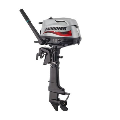 Mariner 5hp Sailmate 4-Stroke Outboard Engine with Long Shaft & Tiller Handle