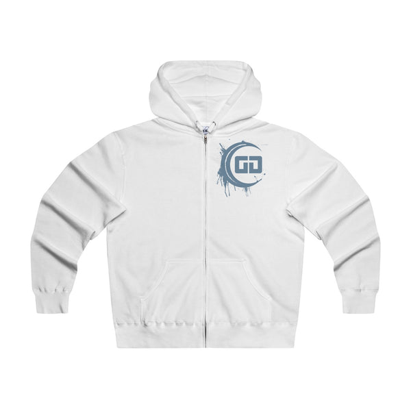 GG Blue Splash Logo Zip Lightweight Hooded Sweatshirt