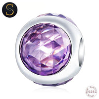 Charm rond 3 Crystal - Violet