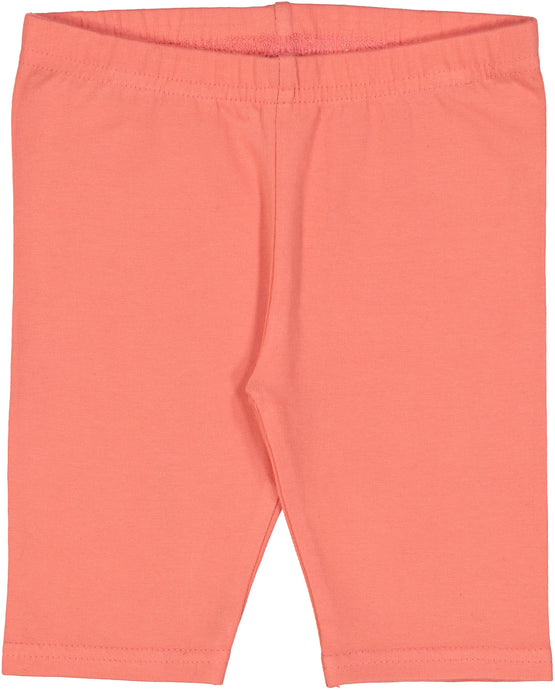Coral Fitted Short Leggings