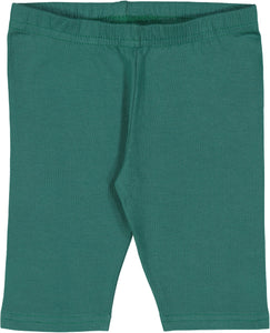Short Bottle-Green Baby Leggings