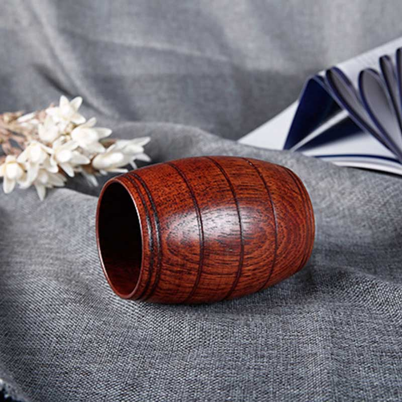 Tea Barrel Mathca Tea Cup | Hand-made Classic Wood Work