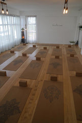 Cork Yoga Mats in Flourish Yoga Studio NZ