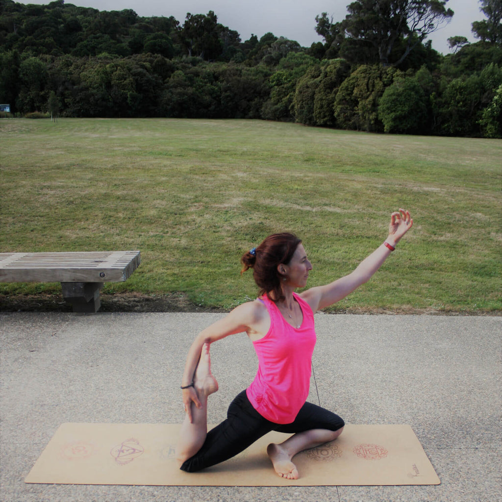 Kate Watkinson on a natural yoga mat