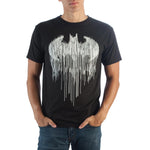 Batman Line Drip Black T-Shirt  Men's