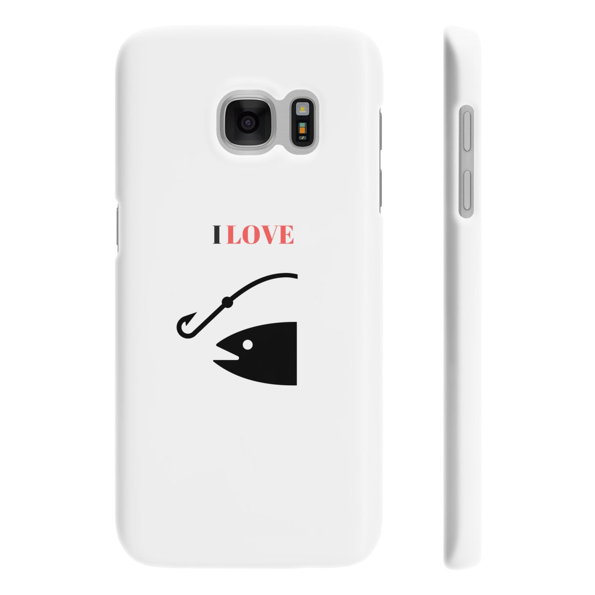 I Love Fishing  Slim Phone Cases Custom Item