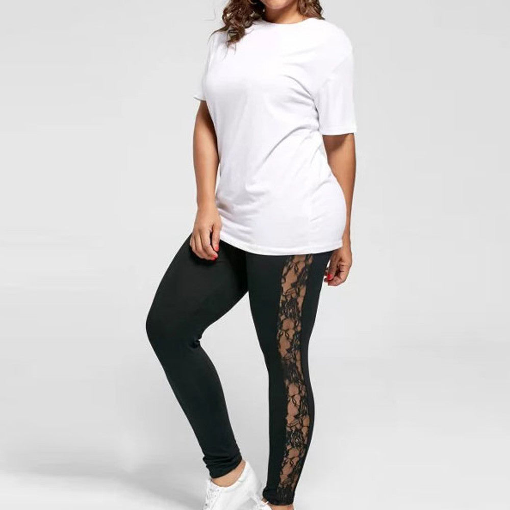 Women's Sexy Mesh Plus Size Quick Dry Dance/Athleisure/ leggings