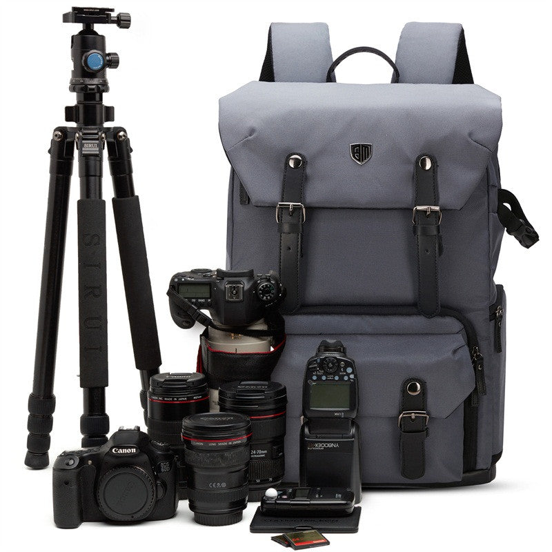 Canvas & Leather Retro Camera Backpack NAT GEO NG5070