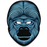 Gorilla - LED Voice Activated Rave Mask