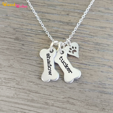 Always By My Side - Personalised Dog Pendant