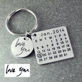 Moment in Time - Personalised Calendar Keychain