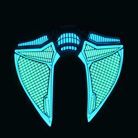 Blue Mist - LED Sound Activated Rave Mask